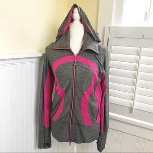 Lululemon Heathered Gray & Pink Stride Jacket 6